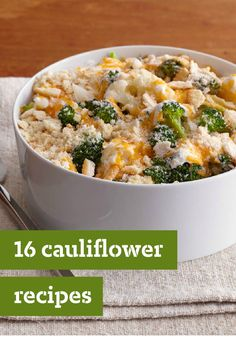 16 Cauliflower Recipes – Whether you're looking for a cheesy au gratin dish or a simple cauliflower mash, our recipe collection is sure to give you more reasons to love this versatile veggie.