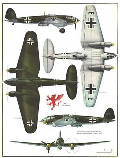 Heinkel He 111 hi-speed bomber ortho Ww2 Aircraft, Fighter Aircraft, Military Aircraft, Luftwaffe, Air Fighter, Fighter Jets, Old Planes, War Thunder, Aircraft Painting