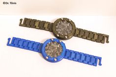 3d-printed analog-digital hand watch. Hand Watch, Bracelet Watch, Diy Projects, 3d, Watches, Printed, Digital, Bracelets, Accessories
