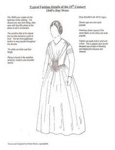 1840 Silhouette :: Conner Prairie Historic Clothing