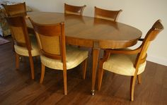 Baker Furniture Regency Table and Armchairs | Chairish