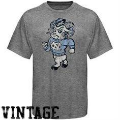 North Carolina Tar Heels Distressed Big Logo Ring Spun T-Shirt - Gray  University Of 72ca34b65
