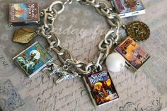 6-7 book series - mini book lockets and charm bracelet such as for Narnia or Kingdom Keepers on Etsy, $35.00