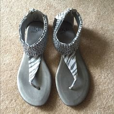 Buckle sandals! Super cute gently used Buckle sandals. Size 8 Buckle Shoes Sandals