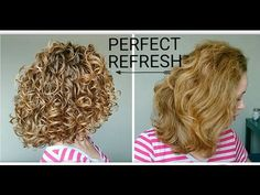 Why are My Curls STRINGY When I REFRESH? How to get a perfect refresh routine on natural hair with demo, and style! Curly Hair/Wavy Hair tips that will guide. Curly Hair 2c, Wavy Hair Tips, Layered Curly Hair, Curly Hair Routine, Curly Hair Care, Curly Hair Styles, Frizzy Curls, Hair Frizz, Grey Hair Journey