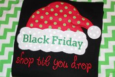 Black Friday Christmas shopping tshirt adult or by stephstowell