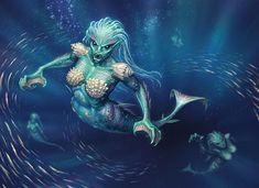 Rampant Oceanids by joelhustak on deviantART