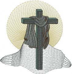 Free Religious Cross Embroidery Design | AnnTheGran