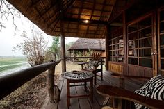 Kafunta River Lodge chalet veranda