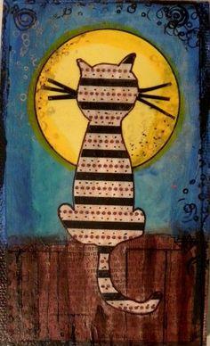 The Cat's Meow~ Mixed Media Art