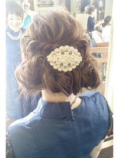 結婚式 髪型 ショートボブ ヘアアレンジ ふんわりおしゃカワ☆今っぽカジュアルセット☆結婚式にも