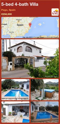5-bed 4-bath Villa in Pego, Spain ►€258,000 #PropertyForSaleInSpain