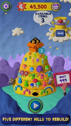 Save the land of Clay Jam from the fearsome Bully Beasts in this fun-packed action game. Guide Fat Pebble as he rolls down five weird and wonderful hills in a world made entirely from clay!  click image above for review and download