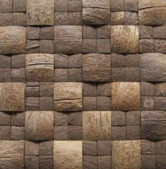 Discover thousands of images about Coconut shell mosaic Wood Interior Design, Wood Design, Interior Design Living Room, Wood Wall Tiles, Wood Wall Art, Acoustic Diffuser, Studio Soundproofing, Coconut Shell Crafts, Wood Floor Texture