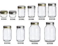 Specialty Bottle - Eco Mason Glass Jars