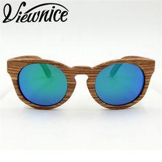 b90f6544ac58 Viewnice Zebra Wood Sunglasses Men Wooden Sunglasses Brand Designer  Original Wood Polarized Natural Handmade Sun Glasses 1226 -in Sunglasses  from Women s ...