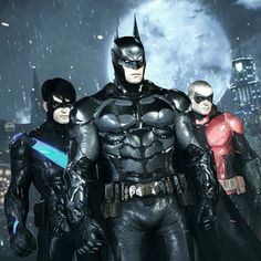 Allies of the Bat! #Nightwing #Robin #Batman #BatmanArkham #ArkhamKnight
