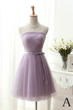 Short Prom Dresses #ShortPromDresses, Prom Dresses A-Line #PromDressesALine, Prom Dresses For Cheap #PromDressesForCheap, Prom Dresses Purple #PromDressesPurple