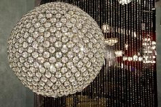 Brilliant 12 Light Pendant in Polished Chrome with Crystal Glass
