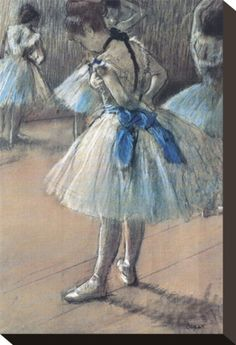 Ballerina by Edgar Degas - a lovely blue-toned one