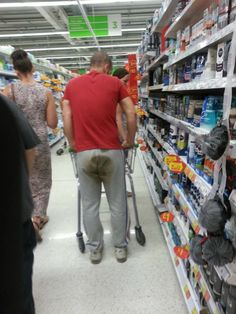 Diaper Change. Can't Find the Bathroom at Walmart? Just Go In Your Pants... - Funny Pictures at Walmart