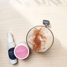 On weekdays we goal-get, on weekends we glow-get, with an iced chai latte on the side #latte #coffee #skincare #VainPursuits #organic #crueltyfree #skin
