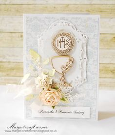Scrap & Craft Tie it Up! use Ribbon or Twine First Communion Cards, Confirmation Cards, Baby Christening, Baptism Gifts, Handmade Decorations, Quilling, Paper Flowers, Holi, Place Card Holders