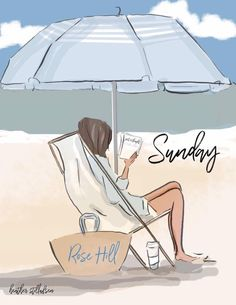 The Heather Stillufsen Collection from Rose Hill Designs Bisous Gif, Rose Hill Designs, Summer Beach Quotes, Sunday Rose, Hello Weekend, Hello Sunday, Beach Art, Art Plastique, Woman Quotes