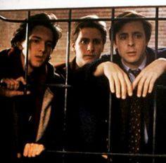 Andrew McCarthy, Emilio Estevez and Judd Nelson in St. Elmo's Fire