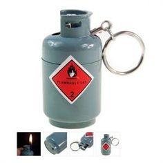 Novelty Lighters | ... Tank Shaped Lighter - Mini Butane Jet Torch Lighter - Gas-Tank-Lighter