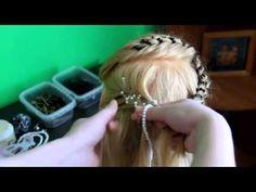 Плетение кос - причёска с бусами - YouTube