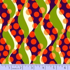 "Orange, Kiwi & Grape come together in Marcus Fabrics' new ""HIP 2 B SQUARE"""
