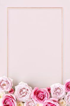 Gold Wallpaper Background, Rose Gold Wallpaper, Flower Phone Wallpaper, Framed Wallpaper, Frame Background, Iphone Wallpaper, Wedding Invitation Background, Pretty Wallpapers, Flower Frame
