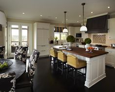 Eclectic Modern Farmhouse Kitchen - love the open layout