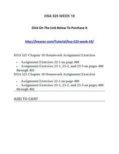 hsa 525 homework