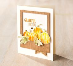 Handmade Autumn/Thanksgiving/Gratitude card using the Fall Fest Stamp Set from Stampin' Up!