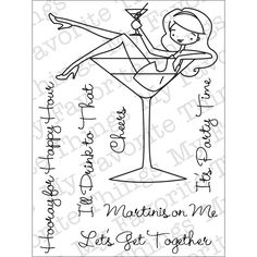 My Favorite Things A La Modes Clear Stamps -Martinis On Me