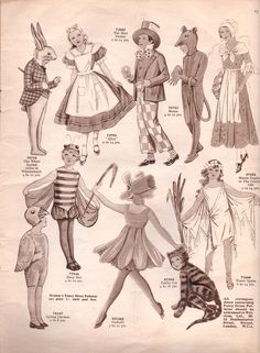 Vintage Sewing Pattern Catalogue – Fancy Dress For Children – Vintage Knitting Pattern Archive Vintage Knitting, Vintage Sewing Patterns, Victorian Gentleman, 18th Century Costume, Victorian Costume, 1920s Costume, Roman Soldiers, Little Bo Peep, Costume Patterns