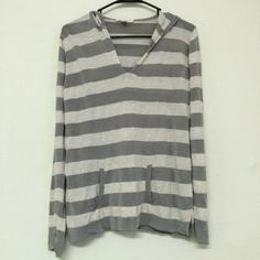 Smooth and Light Striped Hoodie by Coldwater Creek This striped hoodie by Coldwater Creek is nice and light with a smooth feel! It is a size large and is in great condition! Coldwater Creek Tops Sweatshirts & Hoodies