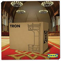 Tron of ikea Print Ads, Poster Prints, Posters, Creative Advertising, The Marketing, Guerrilla, Embedded Image Permalink, Ikea, Bookends
