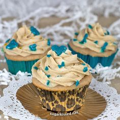 One of my favorite cupcake recipes! Snickerdoodle Cupcakes with Brown Sugar Buttercream