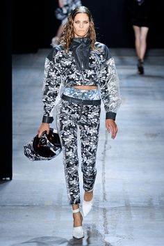 Alexander Wang Spring 2012 - Alexander Wang went as far as to create floral motorcycle helmets for his Spring 2012 collection.