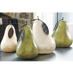 Terra-Cotta Pears. I love pears. Great for indoors or out!