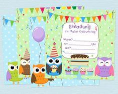 Kindergeburtstag Einladungen Vorlagen Kostenlos Zum Ausdrucken