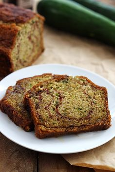 Cinnamon Swirl Zucchini Bread- this!! I made it for work, but after one slice decided there's no way I'm sharing! I used maple sugar instead of regular and half whole wheat pastry flour. I sprinkled some cinnamon and  sugar on the raw on top, which makes it the best ever!