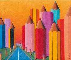 """""""Periferia"""" 2006, Olio su tela, 35x40"""