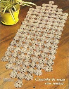 Caminho De Mesa De Crochê Com Gráfico - Os caminhos de mesa em crochê são peças que encantam as visi