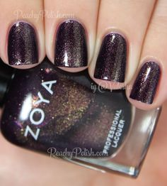 Zoya Sansa | Fall 2014 Ignite Collection |is a deep shade of eggplant with strong gold and purple shimmer.