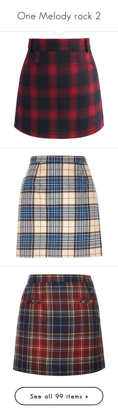 """""""One Melody rock 2"""" by nataliastopczasu ❤ liked on Polyvore featuring skirts, mini skirts, red, red skirt, red plaid skirts, red tartan skirts, tartan skirt, tartan plaid skirt, bottoms and river island"""