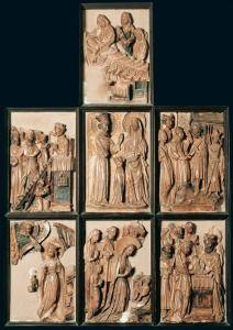 Anónimo de taller inglés. Retablo de la vida de la Virgen. Finales del s. XV. Museo Arqueológico Nacional. Madrid